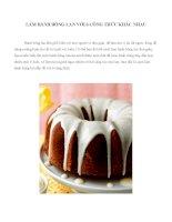 6 công thức làm bánh bông lan tuyệt ngon