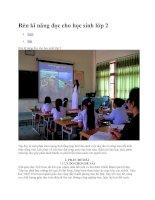 Rèn kĩ năng đọc cho học sinh lớp 2