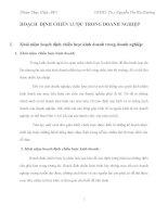 Bài tập nhóm môn quản trị kinh doanh nhà hàng HOẠCH ĐỊNH CHIẾN LƯỢC TRONG DOANH NGHIỆP