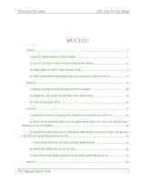 luận văn phân tích tài chính dự án đầu tư