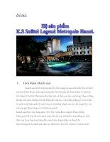 Bài tập nhóm môn quản trị kinh doanh lưu trú Hệ sản phẩm khách sạn sofitel Legend Metropole Hà Nội