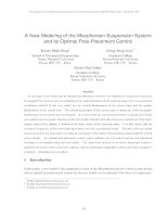 A new nodeling of the macpherson suspension system and its optimal pole placement control