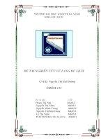 Bài tập nhóm môn quản trị kinh doanh lưu trú NGHIÊN CỨU VỀ LÀNG DU LỊCH