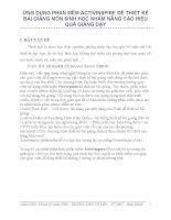 Sáng kiến kinh nghiệm ỨNG DỤNG PHẦN MỀM ACTIVINSPIRE ĐỂ THIẾT KẾ BÀI GIẢNG MÔN SINH HỌC NHẰM NÂNG CAO HIỆU QUẢ GIẢNG DẠY