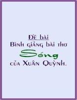 Bình giảng: Sóng - Xuân Quỳnh