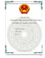 Bài dự thi tìm hiểu hiến pháp nước CHXHCN việt nam