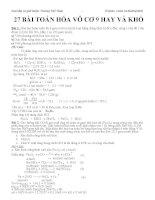 27 bài toán Hóa 9 Hay và khó