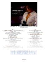 Tuyển Tập Đặc Sắc Celine Dion - My Love