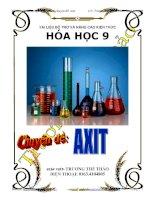 Tài liệu dạy thêm, học thêm  chuyên đề Axit hóa học lớp 9