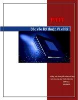 báo cáo thực hành kỹ thuật vi xử lý PTIT