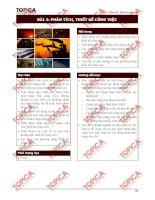 Bài giảng Topica  Phân tích thiết kế công việc