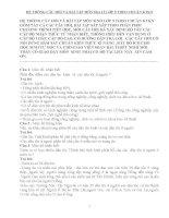 HỆ THỐNG CÂU HỎI VÀ BÀI TẬP MÔN ĐỊA LÍ LỚP 9 CHUẨN