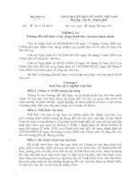 Thông tư 01/2011/TT-BNV - thể thức và kỹ thuật trình bày văn bản hành chính