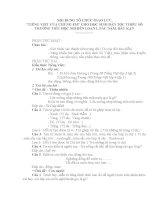 BỘ CÂU HỎI GIAO LƯU TIẾNG VIỆT HSDTTS NĂM HỌC 10-11