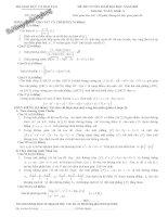 Tổng hợp đề thi Đại học môn toán khối A từ 2009 đến 2014