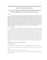 bài báo   NGHIÊN cứu bán TỔNG hợp và xác ĐỊNH HOẠT TÍNH KHÁNG OXY HOÁ của LUTEOLIN và dẫn XUẤT