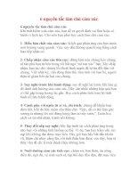 6 NGUYÊN TẮC LÀM CHỦ CẢM XÚC