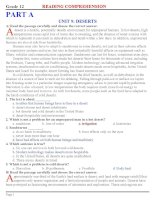 READING & CLOZE TEST (HK2)+KEY