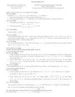 Tổng hợp đề thi Đại học môn toán khối D từ 2009 đến 2014