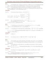 Tuyển tập các câu hỏi về hệ tọa độ trong không gian Oxyz trong các đề thi đại học (có đáp án)