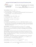 Tuyển tập 30 đề thi thử tốt nghiệp THPT môn Toán năm 2015 (kèm đáp án chi tiết)