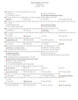 Bài KT 15'' số 2-Trắc nghiệm toàn phần Văn 9
