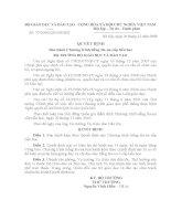 Quyết định 77/2008 - Ban hành chương trình tiếng Ba-nacấp tiểu học