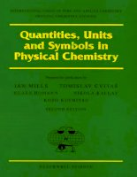 Quantities, Units andSymbols in Physical Chemistry