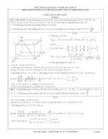 Các bài toán về góc và khoảng cách trong hệ tọa độ Oxyz – Trần Đình Sỹ