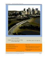 Civil 3d 2011 – thiết kế kỹ thuật hạ tầng đô thị