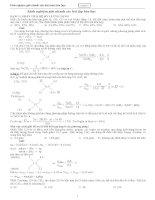 Kinh nghiệm giải nhanh các bài tập hóa học