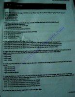 Đề test online vị trí CV QHKH của Sacombank (5-3-2013)