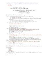 Tuyển tập các bộ đề thi thử đại học môn sinh học (có đáp án kèm theo)