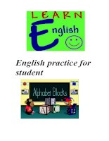 English practice for student