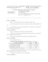 Đề và đáp án thi HSG cấp tỉnh 2008