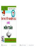 Bộ Đề Ôn Thi Tốt Nghiệp Toán 2011 (50 đề)