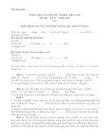Mẫu hợp đồng chuyển nhượng phần vốn góp
