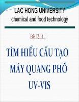 Báo cáo đề tài   tìm HIỂU cấu tạo máy QUANG PHỔ UV VIS