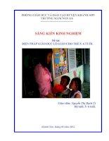 Đề tài nghiên cứu khoa học sư phạm ứng dụng Biện pháp giáo dục lễ giáo cho trẻ 5-6 tuổi