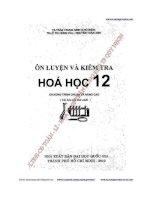 Ôn luyện và kiểm tra hóa học 12 (Chương trình chuẩn và nâng cao)   Trần Trung Ninh (Chủ biên)