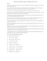 Đề thi giải toán trên mạng vòng 6