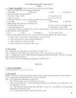 Ngân hàng câu hỏi sinh 6- giữa kì 2