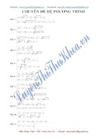 Tuyển tập 200 câu Hệ phương trình hay và chọn lọc Luyện thi Đại học