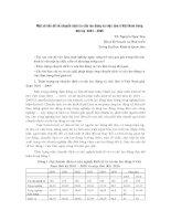 Một số vấn đề về chuyển dịch cơ cấu lao động và việc làm ở việt nam