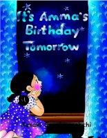 It''s Amma''s Birthday tomorrow