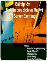 Bài tập lớn nghiên cứu dịch vụ Mail và Mail Server Exchange