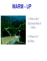 UNIT 16: THE WONDERS OF THE WORLD - READING