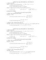 ĐỀ KIỂM TRA 1 TIẾT ĐẠI SỐ 10 CHƯƠNG 4