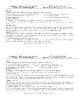 Đề kiểm tra 45 phút Hóa học 11 - Bài số 3