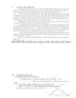 SKKN Khai thác sâu từ một bài toán cơ bản của sách giáo khoa THPT